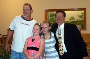 John, Hannah, Sarah, Pastor Steve