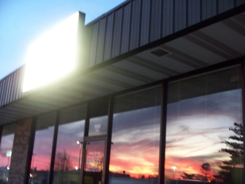 Our window reflecting a beautiful painting God created one Sunday evening.