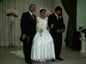 Bro. Sheridan marries Silvia and Benjamin who will be working as medical missionaries.