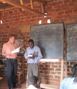 Nathan Radford at the teaching ministry in Rafiki
